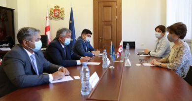 Ambassador of Kazakhstan held a meeting in the Parliament of Georgia